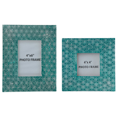 Signature Design by Ashley Bansi Teal Photo Frame Set of 2