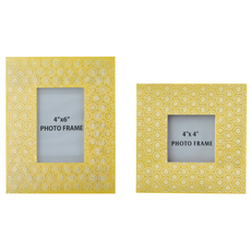 Signature Design by Ashley Bansi Yellow Photo Frame Set of 2