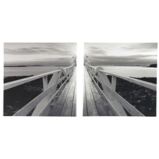 Signature Design by Ashley Beagan Black and White Wall Art Set of 2