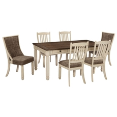 Signature Design by Ashley Bolanburg 7 Piece Dining Set with Upholstered Side Chair D647-02