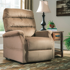 Signature Design by Ashley Brenyth Power Lift Recliner in Mocha