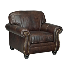 Signature Design by Ashley Bristan Leather Chair in Walnut