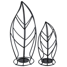 Signature Design by Ashley Cadelaria Black Candle Holder Set of 2