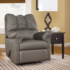 Signature Design by Ashley Darcy Rocker Recliner in Cobblestone