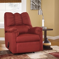 Signature Design by Ashley Darcy Rocker Recliner in Salsa