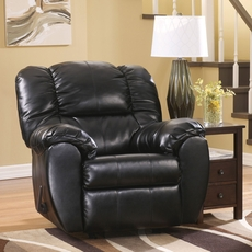 Signature Design by Ashley Dylan DuraBlend Rocker Recliner in Onyx