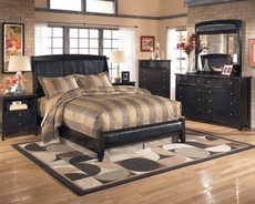 Signature Design by Ashley Harrison 5 Piece Bedroom Set with 2nd Nightstand Free