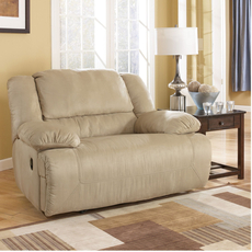 Signature Design by Ashley Hopkins Zero Wall Recliner with Wide Seat Box in Mocha
