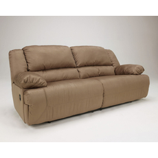 Signature Design by Ashley Hopkins 2 Seat Reclining Sofa in Mocha