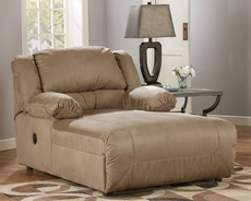 Signature Design by Ashley Hopkins Pressback Chaise in Mocha