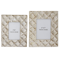 Signature Design by Ashley Kaeden Silver Leaf Photo Frame Set of 2