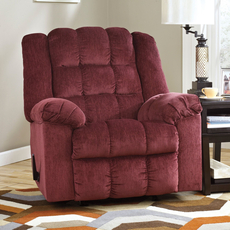 Signature Design by Ashley Ludden Rocker Recliner in Burgundy