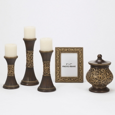 Signature Design by Ashley Mariana Bronze and Gold Accessory Set of 5
