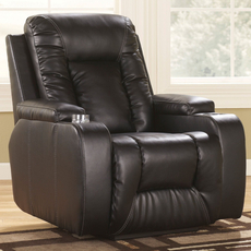 Signature Design by Ashley Matinee DuraBlend Zero Wall Recliner in Eclipse