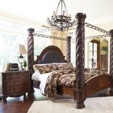 Signature Design by Ashley North Shore Cal King 4 Piece Poster Bed Room Group