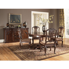 Signature Design by Ashley New Haven 5 Piece Round Pedestal Dining Set