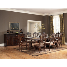 Signature Design by Ashley New Haven 7 Piece Double Pedestal Dining Set