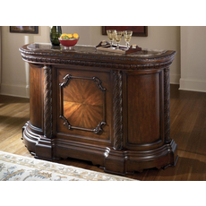 Signature Design by Ashley New Haven Bar with Marble Top