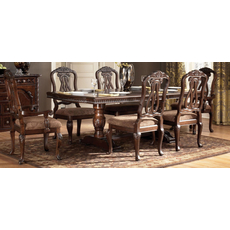 Signature Design by Ashley New Haven Shore Double Pedestal Extension Dining Table