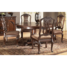 Signature Design by Ashley New Haven Shore Round Pedestal Dining Table
