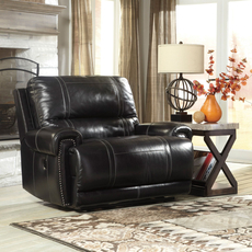 Signature Design by Ashley Paron Zero Wall Wide Seat Recliner in Antique