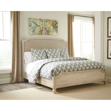 Signature Design by Ashley Demarlos Queen Size Panel Bed with Upholstered Headboard