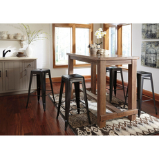 Signature Design by Ashley Pastoral Charm Pinnadel 5 Piece Bar Height Dining Set with Tall Barstools
