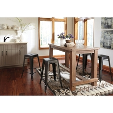 Signature Design by Ashley Pastoral Charm Pinnadel 5 Piece Counter Height Dining Set