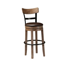 Signature Design by Ashley Pastoral Charm Pinnadel Tall Upholstered Swivel Barstool