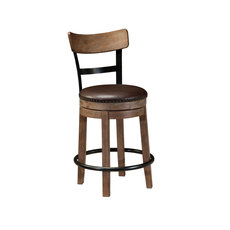 Signature Design by Ashley Pastoral Charm Pinnadel Upholstered Swivel Barstool