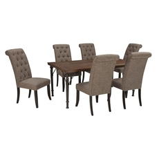 Signature Design by Ashley Pastoral Charm Tripton 7 Piece Dining Set in Graphite