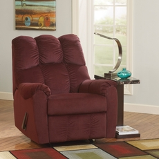 Signature Design by Ashley Raulo Rocker Recliner in Burgundy