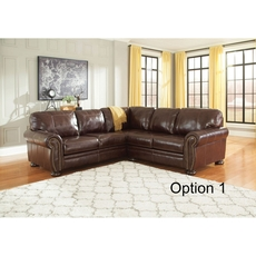 Signature Design by Ashley Timber and Tanning Banner Leather Sectional