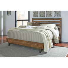 Signature Design by Ashley Timber and Tanning Dondie Cal King Size Sleigh Platform Bed