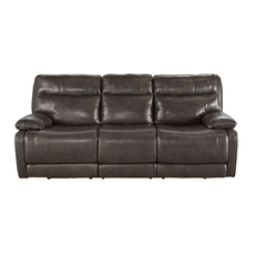 Signature Design by Ashley Timber and Tanning Palladum Leather Reclining Sofa