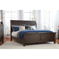 Signature Design by Ashley Timber and Tanning Trudell King Size Sleigh Bed