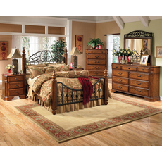 Signature Design by Ashley Woodhaven 5 Piece Bedroom Set with 2nd Nightstand Free