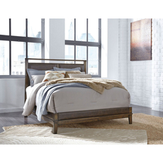 Signature Design by Ashley Zilmar Queen Size Panel Bed with Upholstered Headboard