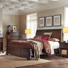 aspenhome Bancroft 5 Piece Sleigh Bedroom Set with 2nd Nightstand Free
