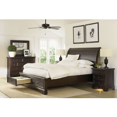 aspenhome Bayfield 4 Piece Sleigh Storage Bedroom Set