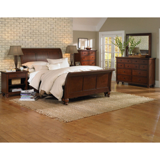 aspenhome Cambridge 5 Piece Sleigh Bedroom Set in Cherry