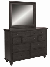 aspenhome Cambridge Chesser with Mirror in Black