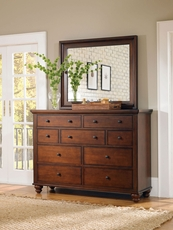 aspenhome Cambridge Chesser with Mirror in Brown Cherry