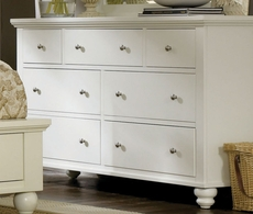 aspenhome Cambridge Double Dresser in Eggshell