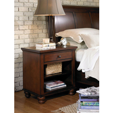 aspenhome Cambridge One Drawer Nightstand in Brown Cherry