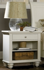 aspenhome Cambridge One Drawer Nightstand in Eggshell