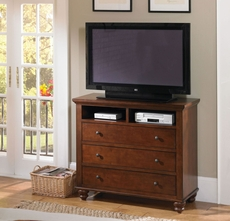 aspenhome Cambridge Entertainment Chest in Brown Cherry