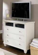 aspenhome Cambridge Entertainment Chest in Eggshell