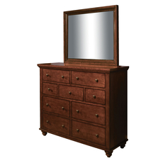 aspenhome Cambridge Kid's Chesser with Mirror in Brown Cherry