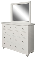 aspenhome Cambridge Kid's Chesser with Mirror in Eggshell